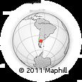 Outline Map of El Caín, rectangular outline