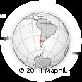 Outline Map of Río Villegas, rectangular outline