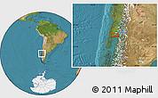 "Satellite Location Map of the area around 41°25'39""S,73°1'30""W"