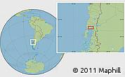 "Savanna Style Location Map of the area around 41°25'39""S,73°1'30""W"