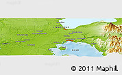 """Physical Panoramic Map of the area around 41°25'39""""S,73°1'30""""W"""