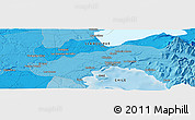 """Political Panoramic Map of the area around 41°25'39""""S,73°1'30""""W"""