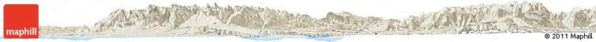 Shaded Relief Horizon Map of Westport