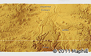 """Physical 3D Map of the area around 41°51'59""""S,68°46'30""""W"""