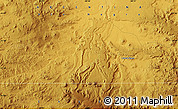"""Physical Map of the area around 41°51'59""""S,68°46'30""""W"""