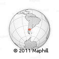 """Outline Map of the Area around 41° 51' 59"""" S, 68° 46' 30"""" W, rectangular outline"""