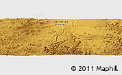 """Physical Panoramic Map of the area around 41°51'59""""S,68°46'30""""W"""