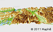 """Physical Panoramic Map of the area around 41°51'59""""S,72°10'30""""W"""