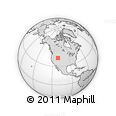 """Outline Map of the Area around 42° 9' 30"""" N, 111° 16' 30"""" W, rectangular outline"""