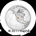 Outline Map of Cokeville, rectangular outline