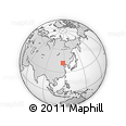 Outline Map of Dongchanglinbadui, rectangular outline