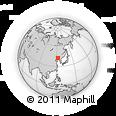 Outline Map of Sanjiazi, rectangular outline