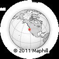 Outline Map of Oregon 46, rectangular outline