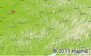 """Physical Map of the area around 42°9'30""""N,124°10'30""""E"""
