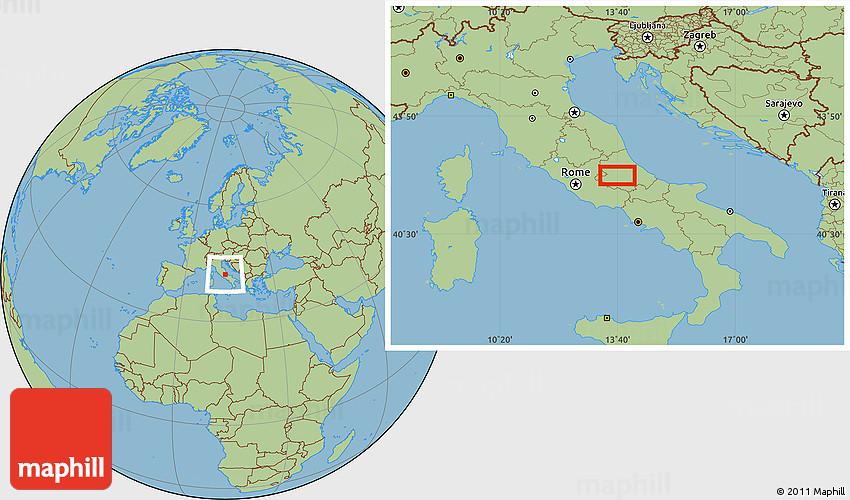 Aquila Italy Map.Savanna Style Location Map Of L Aquila