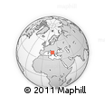"""Outline Map of the Area around 42° 9' 30"""" N, 17° 55' 29"""" E, rectangular outline"""
