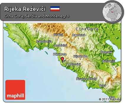 Free Physical 3d Map Of Rijeka Rezevici