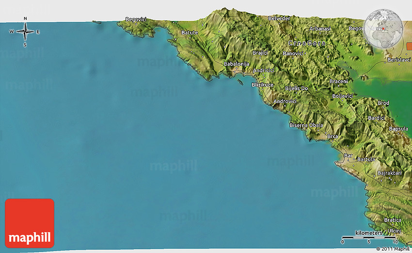 Satellite 3d Map Of Sutomore