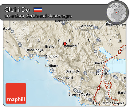 Free Shaded Relief Map Of Gluhi Do