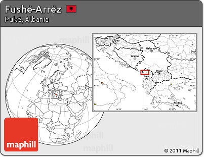 Blank Location Map of Fushë-Arrëz