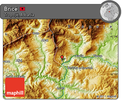 Physical Map of Bricë