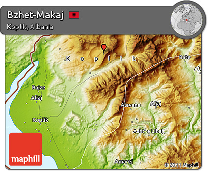 Physical Map of Bzhet-Makaj