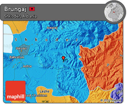 Political Map of Brungaj