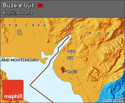 Political Map of Buzë E Ujit