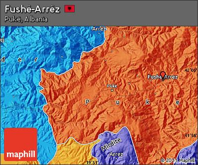 Political Map of Fushë-Arrëz