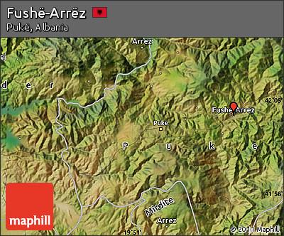 Satellite Map of Fushë-Arrëz