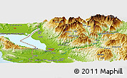 Physical Panoramic Map of Gjelaj