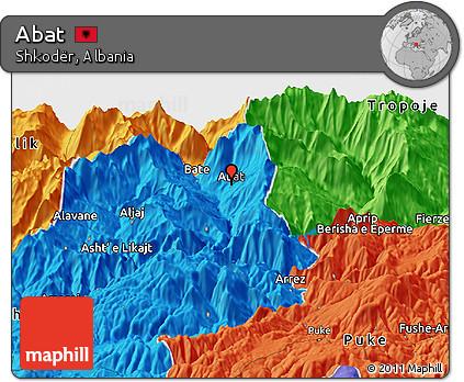 Political Panoramic Map of Abat