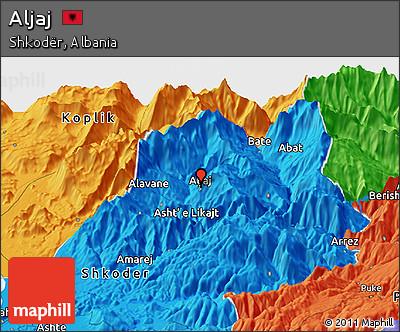 Political Panoramic Map of Aljaj