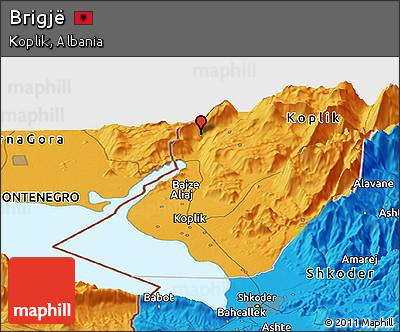 Political Panoramic Map of Brigjë