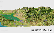 Satellite Panoramic Map of Gojani i Epërm