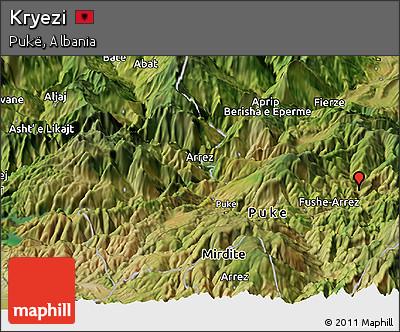 Free Satellite Panoramic Map of Kryezi