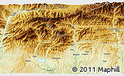 """Physical 3D Map of the area around 42°9'30""""N,1°46'29""""E"""