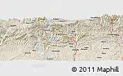 Shaded Relief Panoramic Map of Berga