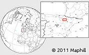 Blank Location Map of Murchante