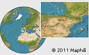 Satellite Location Map of Murchante