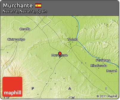 Physical Map of Murchante
