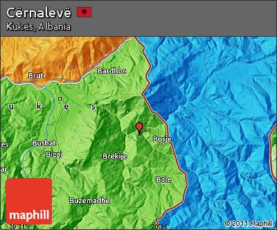 Political Map of Cërnalevë