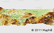 Physical Panoramic Map of Bajram Curri