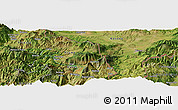 Satellite Panoramic Map of Bajram Curri