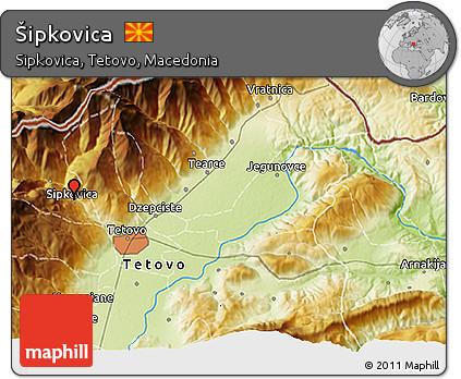 Physical 3D Map of Šipkovica