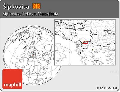 Blank Location Map of Šipkovica