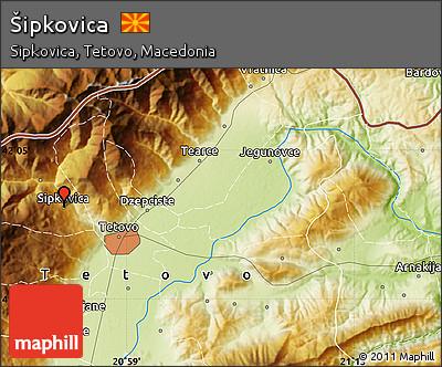 Physical Map of Šipkovica