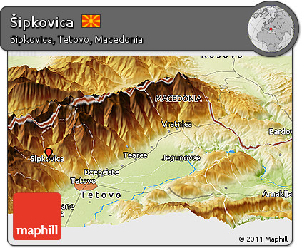 Physical Panoramic Map of Šipkovica