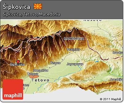 Physical Panoramic Map of Šipkovica