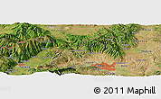 Satellite Panoramic Map of Alimedska Maala